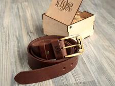 "Custom Leather Belt Mens Gift Box Personalized Christmas Gift Anniversary 1/6"""