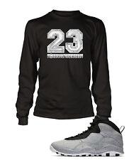 23 Tee Shirt to Match Air Jordan 10 Retro Light Smoke Graphic T Big Tall Small