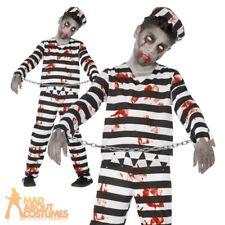 Boys Zombie Convict Costume Halloween Kids Prisoner Child Fancy Dress Outfit