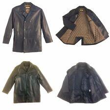 Jim & Mary Lou, Vintage,Men's,Button Up, Genuine Leather, 3/4 Length Coat/Jacket