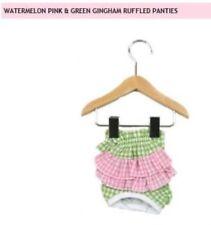 Dog Panties Dog Diaper- Pink & Green Gingham - Large