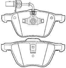 Volkswagen Sharan 1.8T 00-06, 2.8 00-, Transporter/Caravelle Front Brake Pad Set