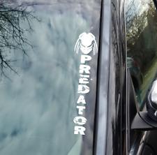 Predator vinyl windshield decal. 13.5 Inch Truck window Car Window sticker.
