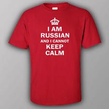 Funny T-shirt I AM RUSSIAN AND CANNOT KEEP CALM Russia Putin SOCHI USSR