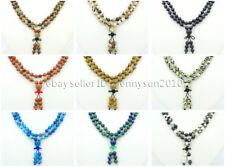 Natural 6mm Gemstone Buddhist 108 Beads Prayer Mala Knot Necklace Multi-Purpose