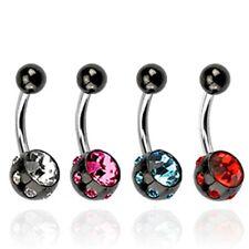 Piercing-flor circonita piercing 10mm remolque cristal #49