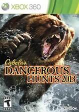 Cabela's Dangerous Hunts 2013 (Microsoft Xbox 360, 2012) Brand New