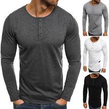 OZONEE 4317 Herren Longsleeve Klassiker Langarm Shirt Basic Camo Sweatshirt MIX
