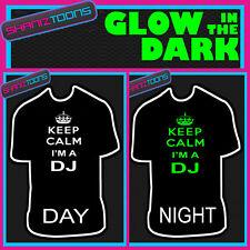 KEEP CALM I'M A DJ MUSIC FESTIVAL GLOW IN THE DARK PRINTED TSHIRT