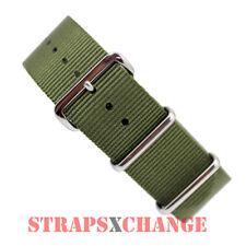 PREMIUM NATO® G10 KHAKI GREEN Military Diver's Watch Strap Band 4 Ring NYLON