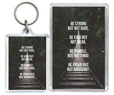 """Be Strong But ..."" Rude Appropiate Weak Love Hate Keyring & Fridge Magnet Gifts"