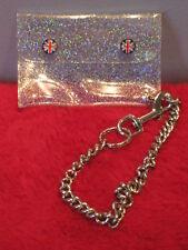 Nos Union Jack British London UK Coin Bag Vegan Wallet Keychain Clear Atomic Mod