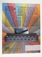 retro magazine advert 1983 MXR omni