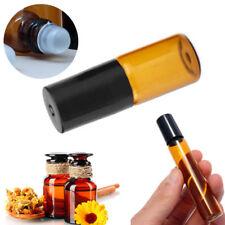 1pc 3/5ml 10ml Amber Roll On Glass Bottles Roller Ball For Perfume Essential Oil
