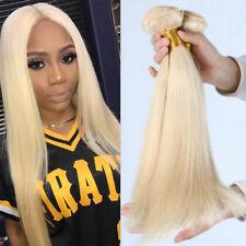 100% Soft Bleach Blonde 3 Bundles Brazillian Virgin Human Hair Weave Weft E594