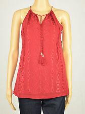 INC Womens Embroidered Tassel-Tie Halter Top XS S M L XL 2XL