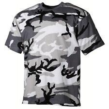 US Army Style T-Shirt urban camo Tarn Rundhals schwere Ausführung Neu