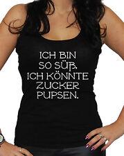 Ich bin so süß Tanktop Fun Kult Fashion Blogger Einhorn Shirt Unicorn Cool
