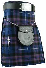 Men's 6 Yards Pride of Scotland Tartan Kilts 3 leather straps fast delivery