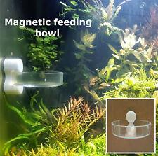 Magnetic cherry shrimp aquarium feeding bowl pellet food feeder clear acrylic