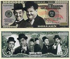 Laurel and Hardy 1 Million Dollars Color Novelty Money