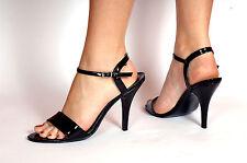 Black High Heel Court Sandals Pump Shoes Transvestite MSPVC7912BC UK 8 9 10 11