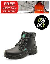 SAFETY FOOTWEAR BLACK 6 EYELET PUR BOOT SHOE SIZES 5-13 HGCF60BLBS