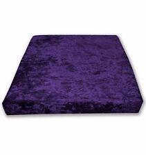 Mv29t Purple Diamond Crushed Velvet Sofa 3D Box Seat Cushion Cover Custom size