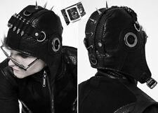 Bonnet aviateur chapeau steampunk gothique vintage cuir spike cartouche PunkRave