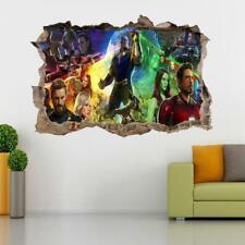 Super Heroes 3D Smashed Wall Sticker Decal Decor Art Mural Marvel Avengers J1056