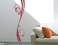 Wandtattoo Blumenranke Swinging Flower Schlafzimmer Aufkleber Pflanzen uss146
