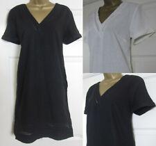 NEW Next Shift Tunic Dress Linen Blend Summer Sun Broderie Black Ivory 6-18