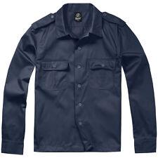 Brandit US Shirt 1/1 Long Sleeve Work Mens Army Uniform Military Top Marine Navy