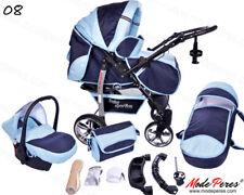 0 Sportive x2 Azzurro - Blu  Passeggino Trio completo + Accessori