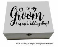 To My Groom Box Ebay