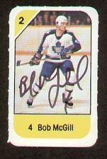 Bob McGill signed autograph auto 1982-83 Post Cereal NHL Hockey Card