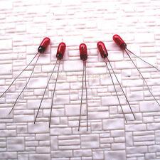 30 pcs Red 3mm 12V 80mA Grain of Wheat Bulbs Long Life