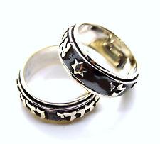 Sterling Silver Ani Ledodi Beloved Jewish Hebrew Wedding spinnin ring size 8- 13