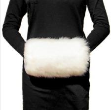 Faux Fur Muff Bridal Hand Warming Wedding White Ivory Winter Gloves Accessories