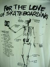 "New Mens 2XL XXL DC Shoes ""Bones Chart"" White Black Hoody Jacket $52"