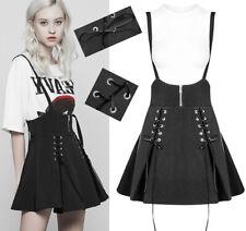 Jupe évasée bretelles robe gothique punk lolita laçage corset oeillets PunkRave