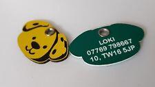 Acrylic Shaped  Dog ID Tags - engraved on back