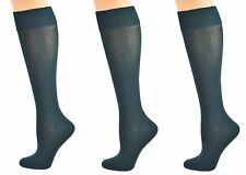 Sierra Socks Girls' School Uniform Opaque Nylon Knee High 3 Pair Pack Sock W1440
