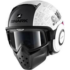 Shark Drak Tribute Motorcycle Motorbike Helmet - White / Violet / Silver