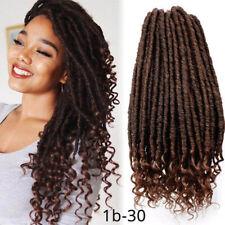 Premium Goddess Faux Locs Curly Ends Crochet Braids Natural Dreadlock Braid Hair