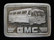 OG07158 VINTAGE 1977 **GMC PASSENGER BUS** TRANSPORTATION PEWTER BELT BUCKLE