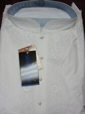 Men's 5990 White Lucknawi Kurta Pajama Set Large Size