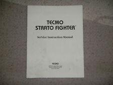 STRATO FIGHTER TECMO   video game manual