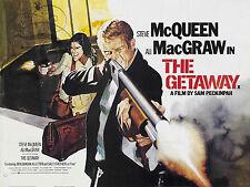 PLAQUE ALU DECO AFFICHE GETAWAY STEVE MCQUEEN MAC GRAW