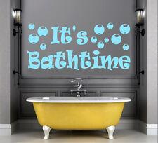 It's Bathtime Vinyl Wall Art Sticker Decal for Childrens Bathroom + FREE UK P&P
